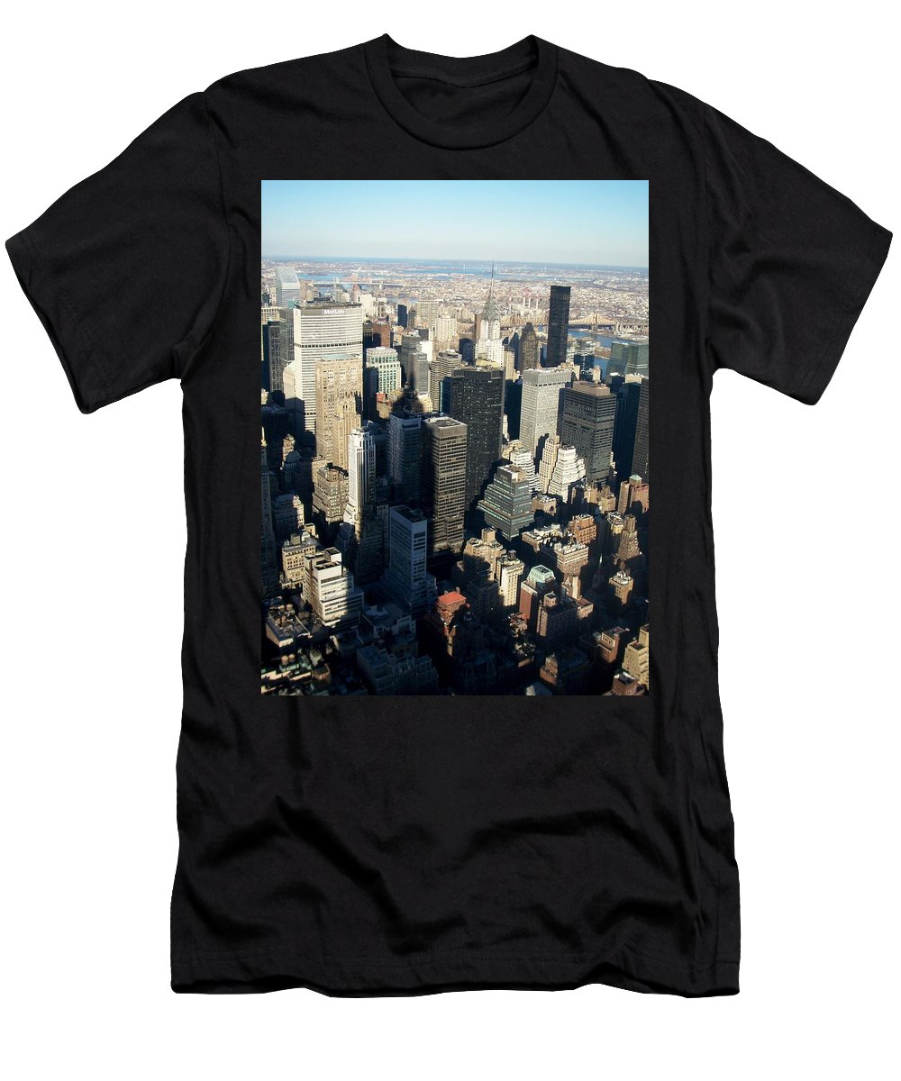 Nyc Men's T-Shirt (Athletic Fit) featuring the photograph Nyc 3 by Anita Burgermeister