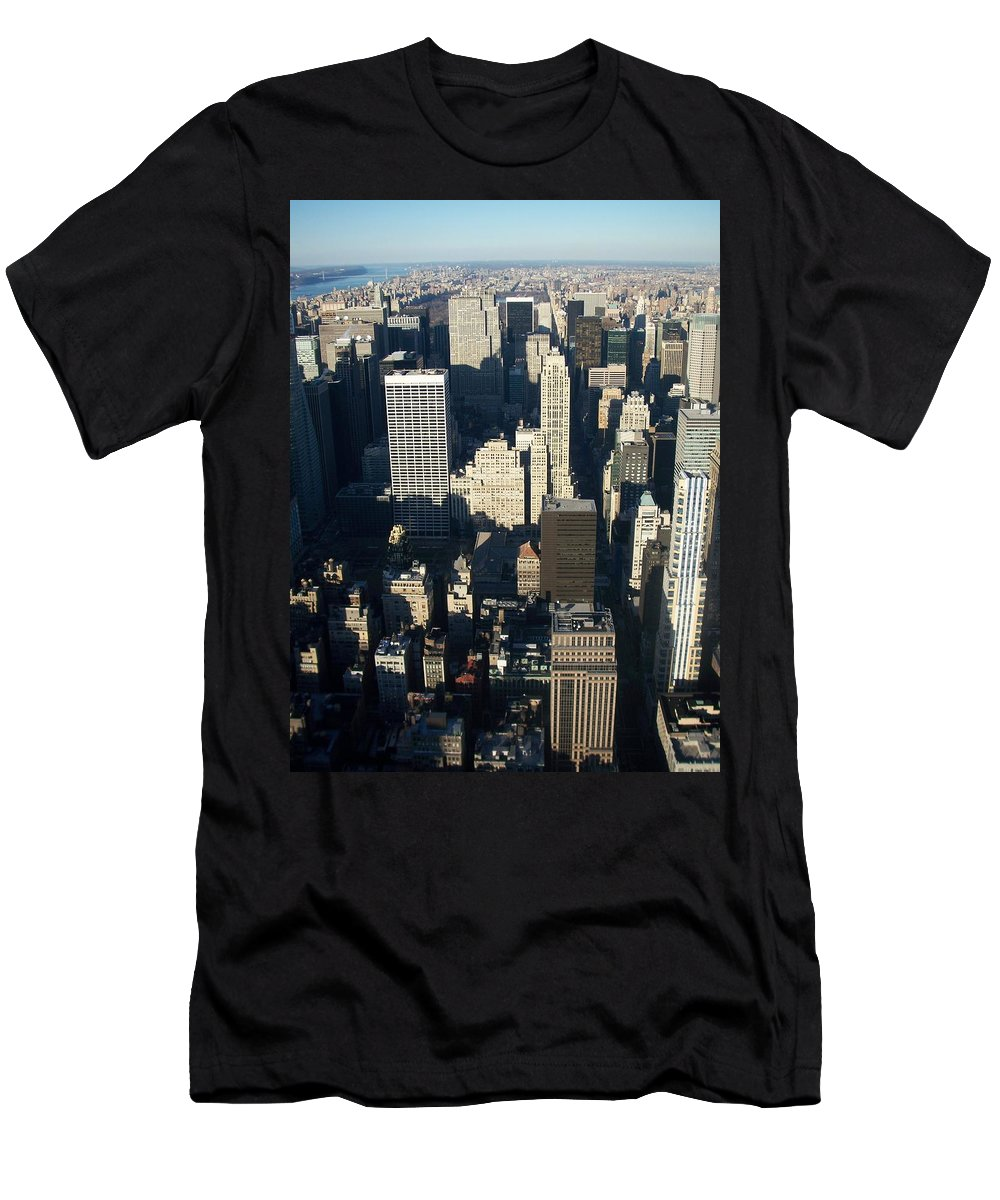 Nyc Men's T-Shirt (Athletic Fit) featuring the photograph Nyc 5 by Anita Burgermeister