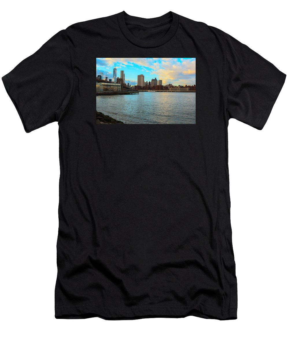 Men's T-Shirt (Athletic Fit) featuring the photograph Nyc Skyline by Christian Frazier