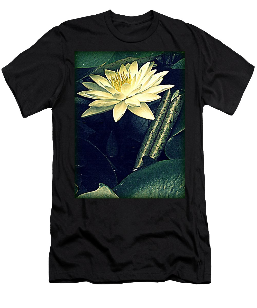 Waterlily Men's T-Shirt (Athletic Fit) featuring the photograph Nymphaea by Jessica Brawley