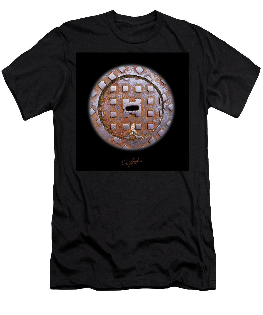 Cast Iron Men's T-Shirt (Athletic Fit) featuring the photograph O by Charles Stuart