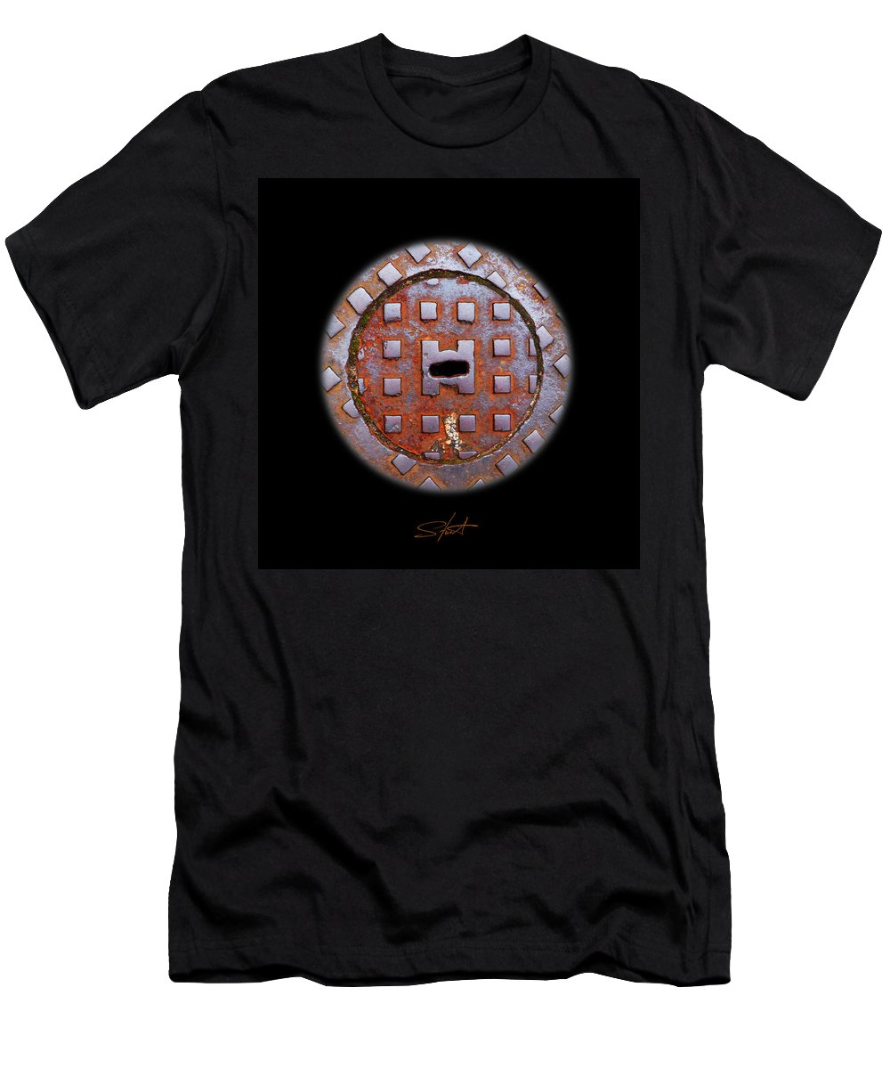 Face Men's T-Shirt (Athletic Fit) featuring the photograph O2 by Charles Stuart
