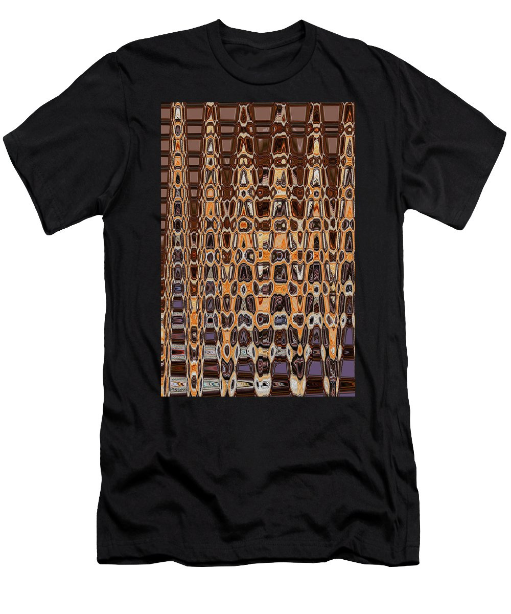 Oak Stump Abstract Men's T-Shirt (Athletic Fit) featuring the photograph Oak Stump Abstract by Tom Janca