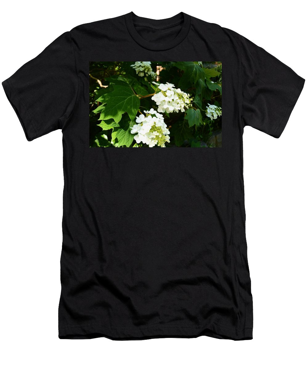 Oakleaf Hydrangea Men's T-Shirt (Athletic Fit) featuring the photograph Oakleaf Hydrangea by Warren Thompson