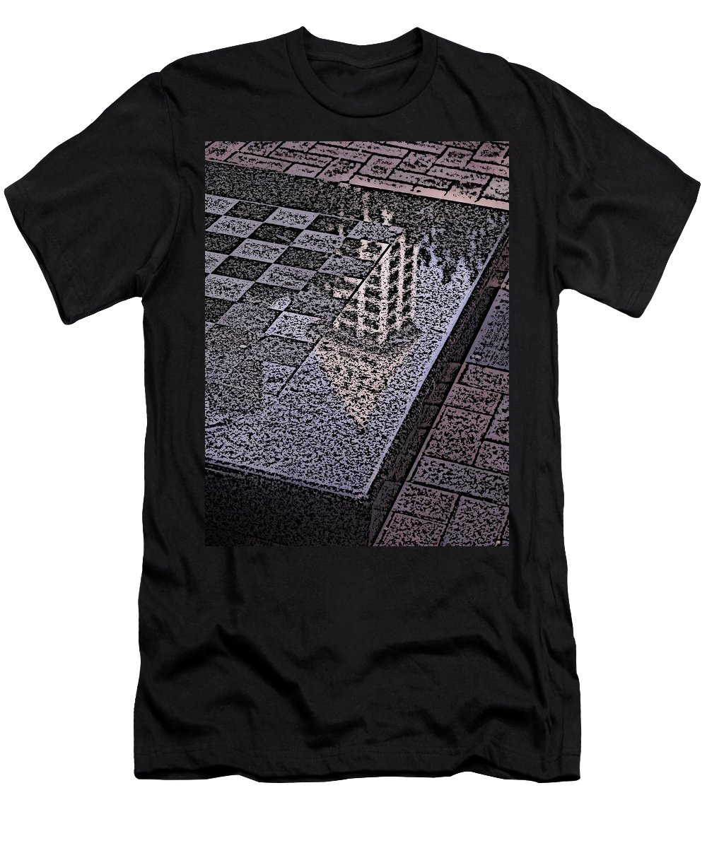 Seattle Men's T-Shirt (Athletic Fit) featuring the digital art Occidental Park Checkerboard by Tim Allen