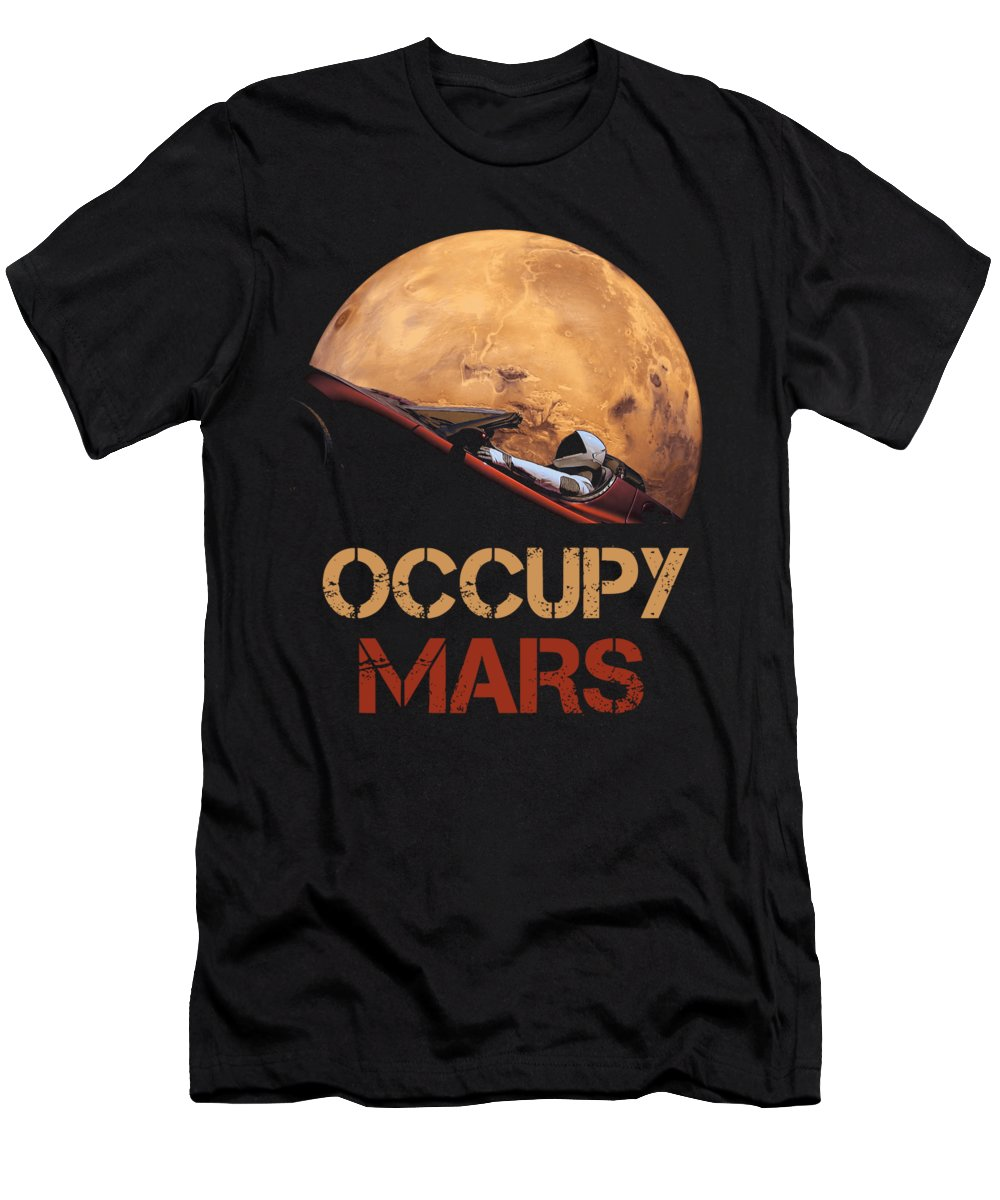 Occupy Mars T-Shirt featuring the mixed media Occupy Mars by Filip Schpindel