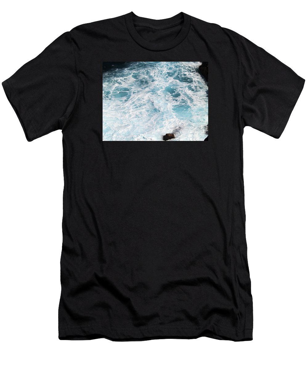 Fine Art Photography Men's T-Shirt (Athletic Fit) featuring the photograph Ocean Abstract by Patricia Griffin Brett