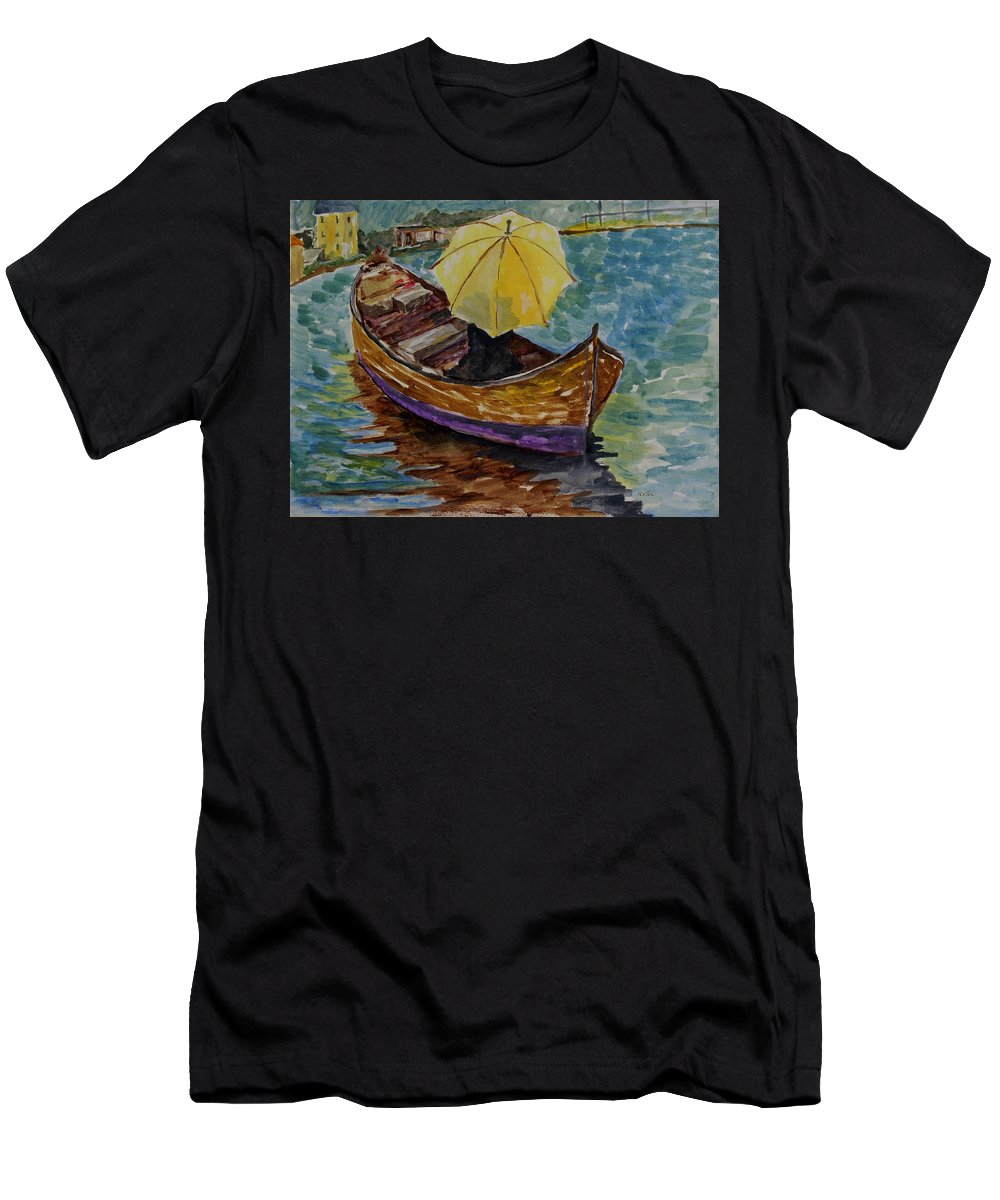 Beaches Men's T-Shirt (Athletic Fit) featuring the painting Ocean Stroll by Nana Gale Van