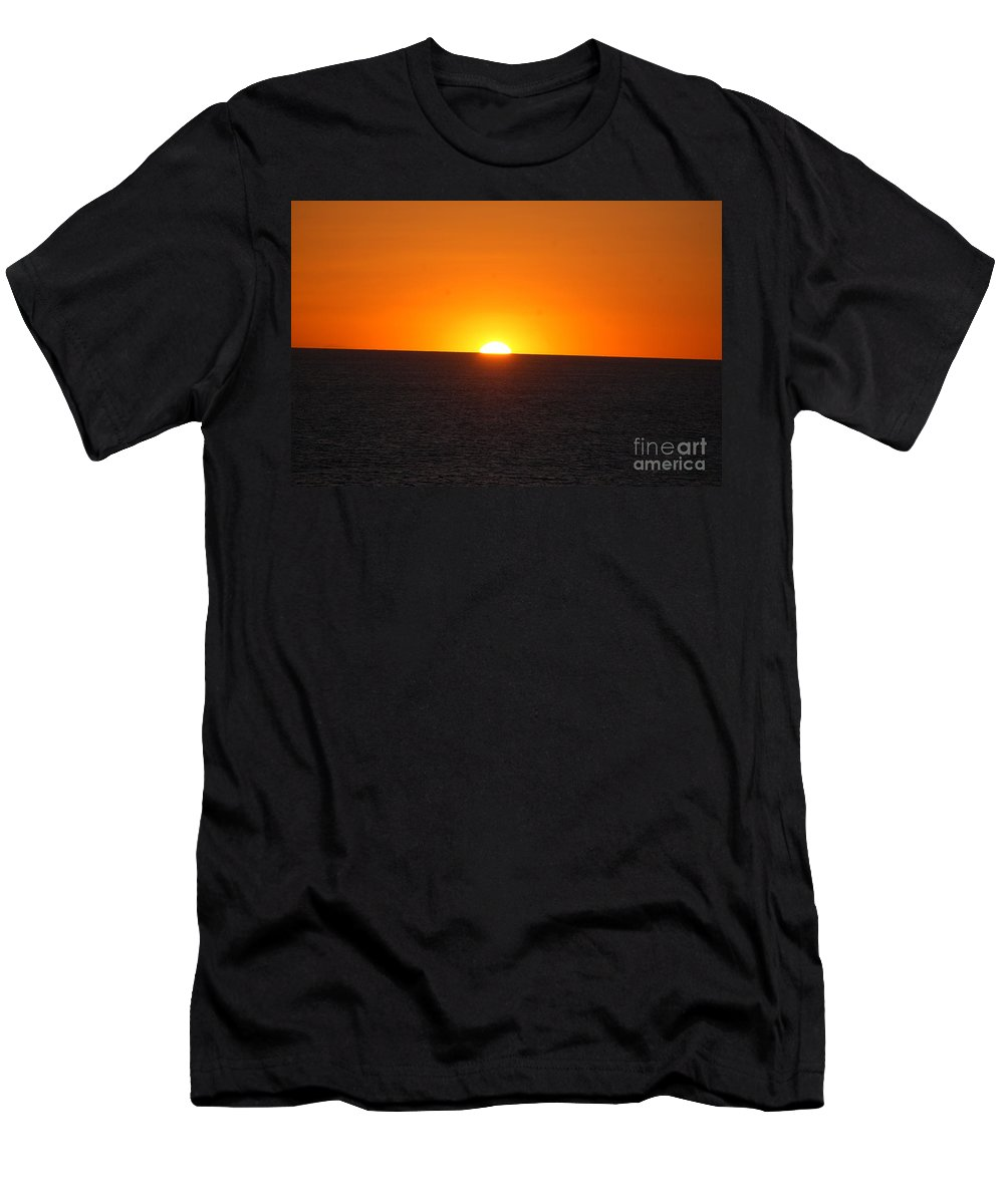 Sunset Men's T-Shirt (Athletic Fit) featuring the photograph Ocean Sunset by Frank Stallone