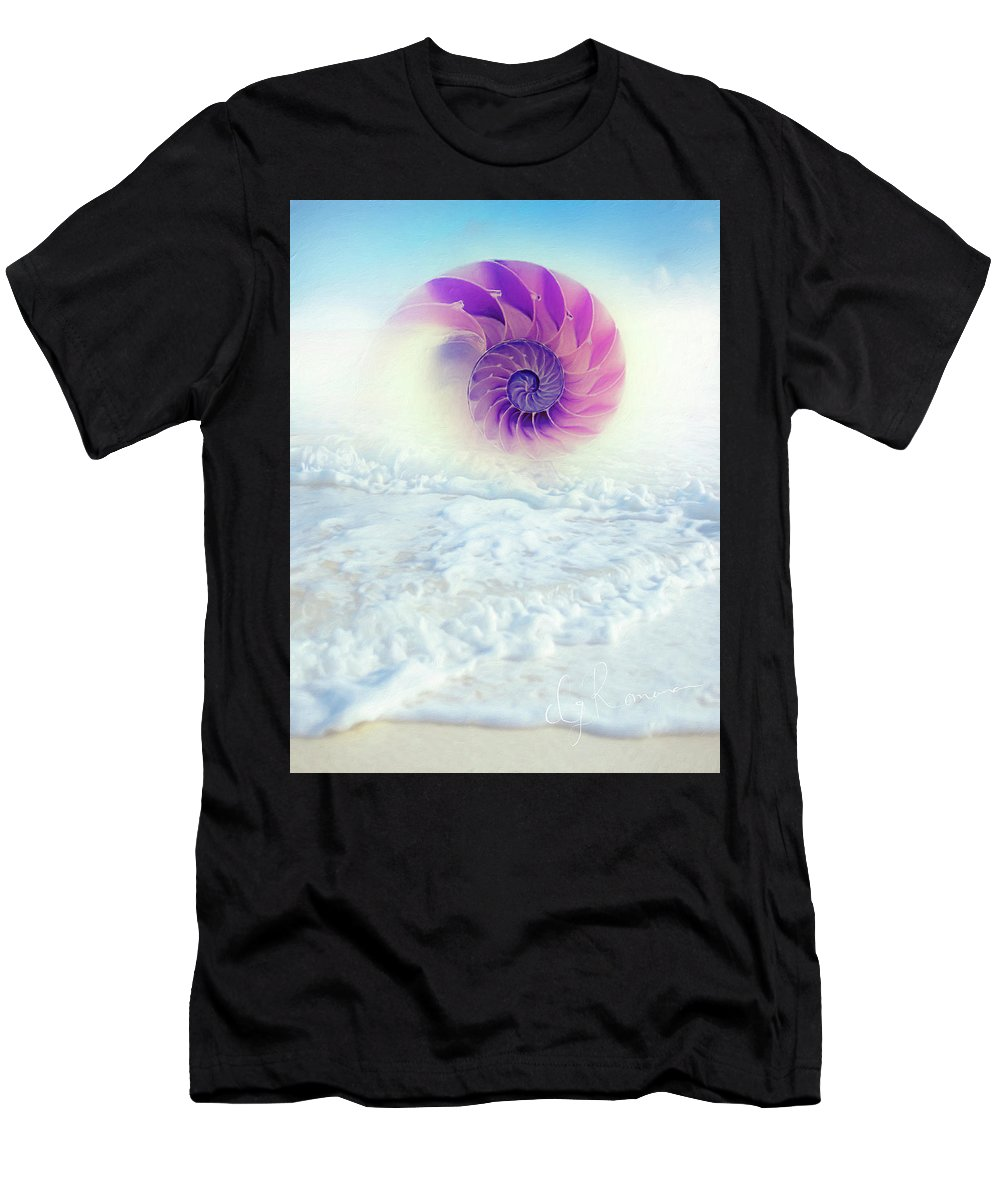 Ocean To Infinity Men's T-Shirt (Athletic Fit) featuring the photograph Ocean To Infinity by Georgiana Romanovna