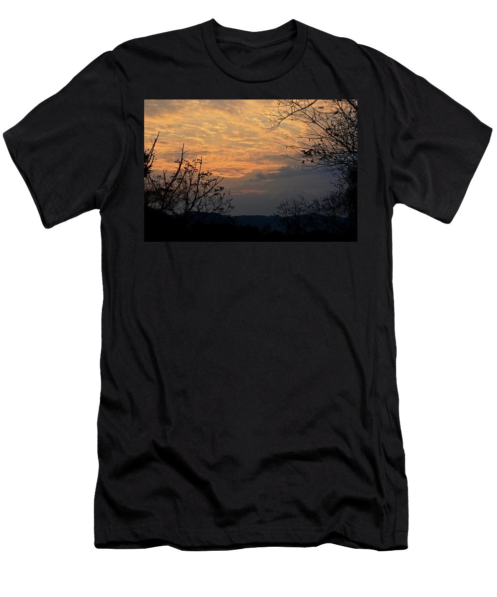 October Men's T-Shirt (Athletic Fit) featuring the photograph October Sunset by Teresa Mucha