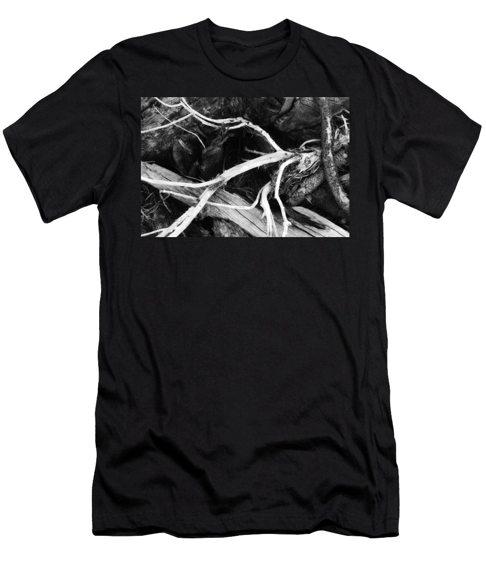 Wood Men's T-Shirt (Athletic Fit) featuring the photograph Octopuss by Donna Blackhall