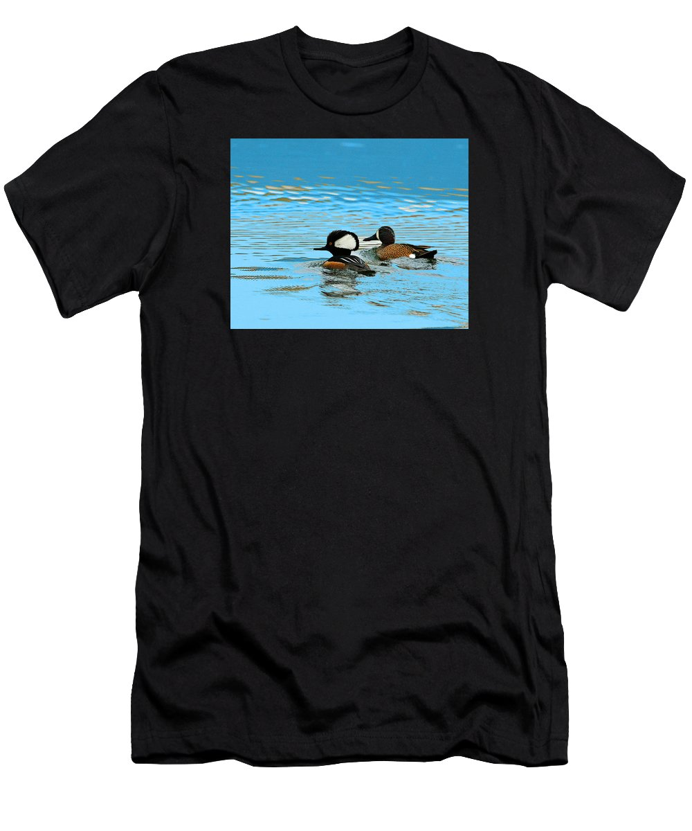 Duck Men's T-Shirt (Athletic Fit) featuring the photograph Odd Couple by Ronald Fleischer