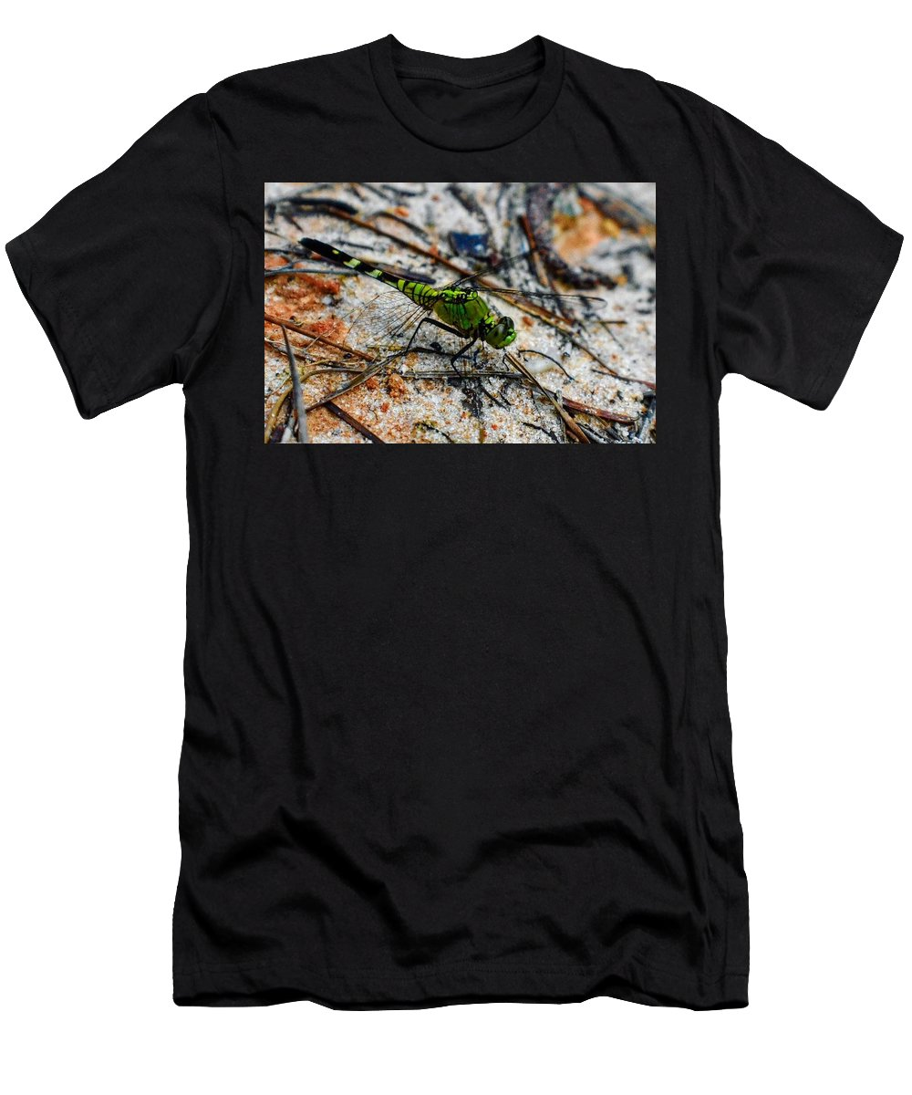 Odonate Men's T-Shirt (Athletic Fit) featuring the photograph Odonate, Green 3. by Ishtar Stillmank