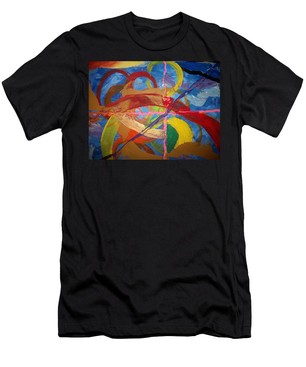 Men's T-Shirt (Athletic Fit) featuring the painting Odyssey by Jan Gilmore