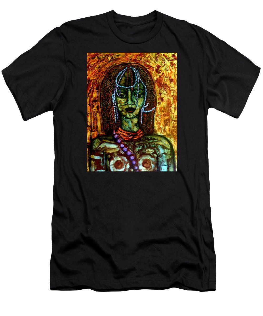 Memories Men's T-Shirt (Athletic Fit) featuring the painting Of Another Childhood I Keep Memories by Madalena Lobao-Tello