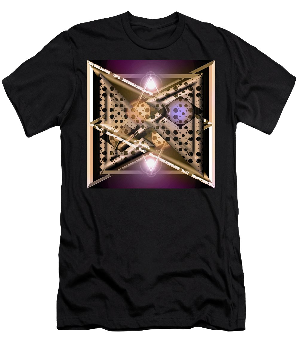 Spheres Men's T-Shirt (Athletic Fit) featuring the digital art Off At Tangents by Andy Young