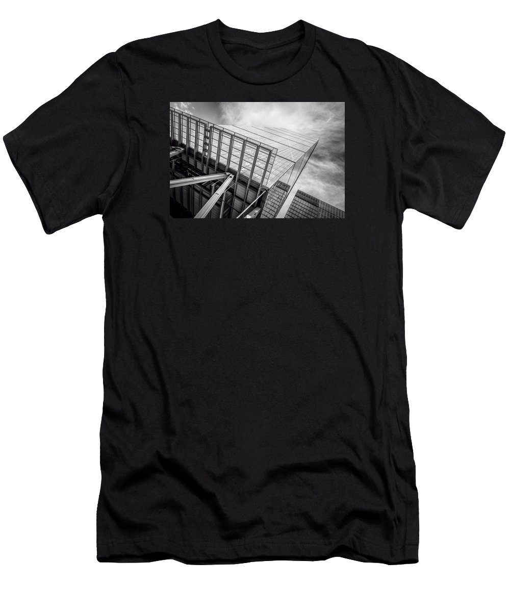 Ftse Men's T-Shirt (Athletic Fit) featuring the photograph Office Building by JJF Architects