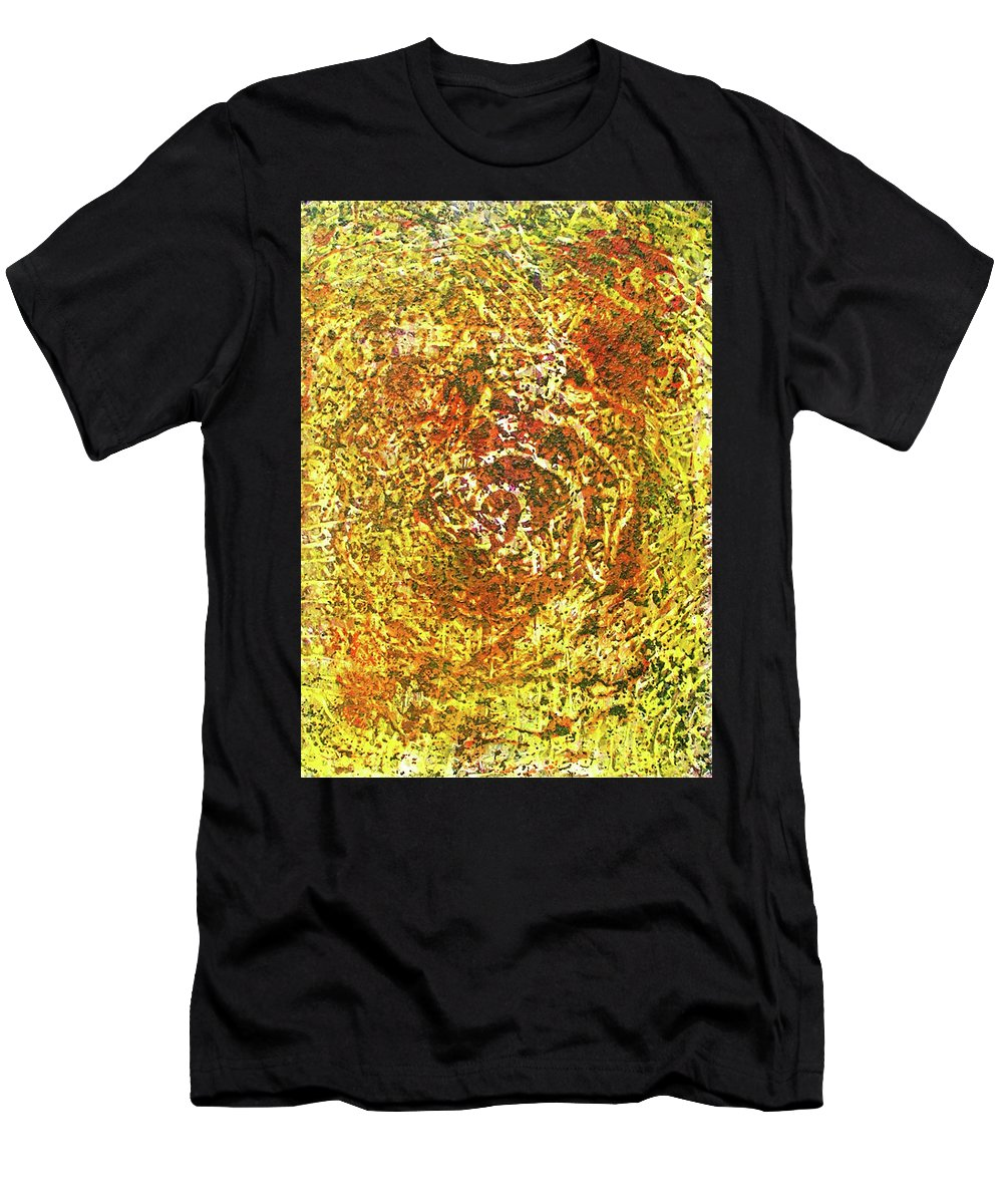 Colorful Men's T-Shirt (Athletic Fit) featuring the painting 14-offspring While I Was On The Path To Perfection 14 by Parijoy Swami Tapasyananda