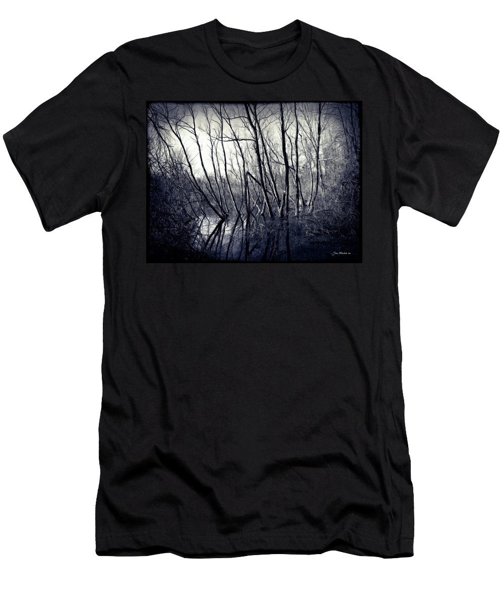 Ohio Men's T-Shirt (Athletic Fit) featuring the photograph Ohio Metro Pond by Joan Minchak