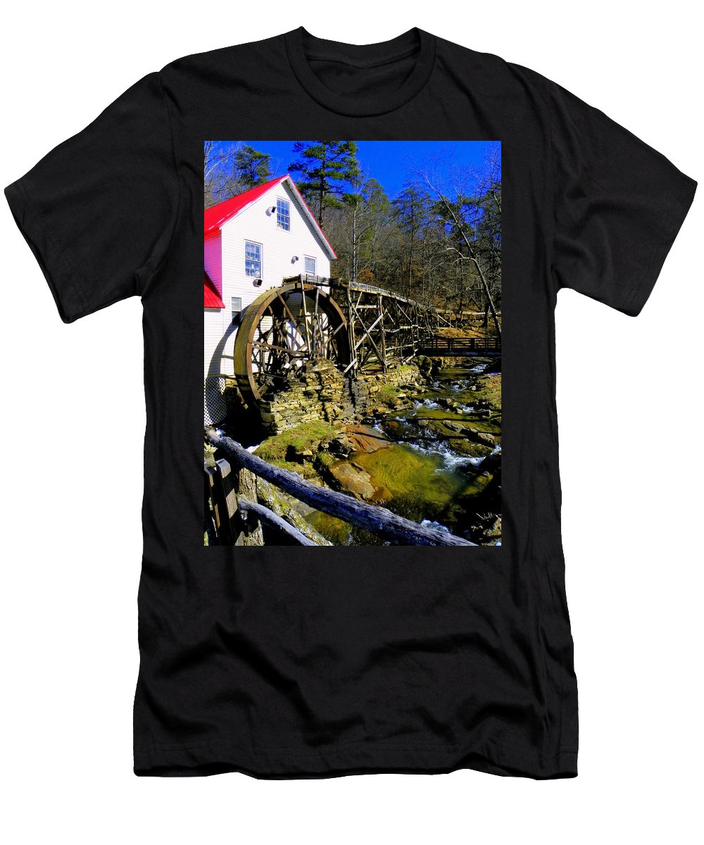 Mills Men's T-Shirt (Athletic Fit) featuring the photograph Old 1886 Mill by Karen Wiles