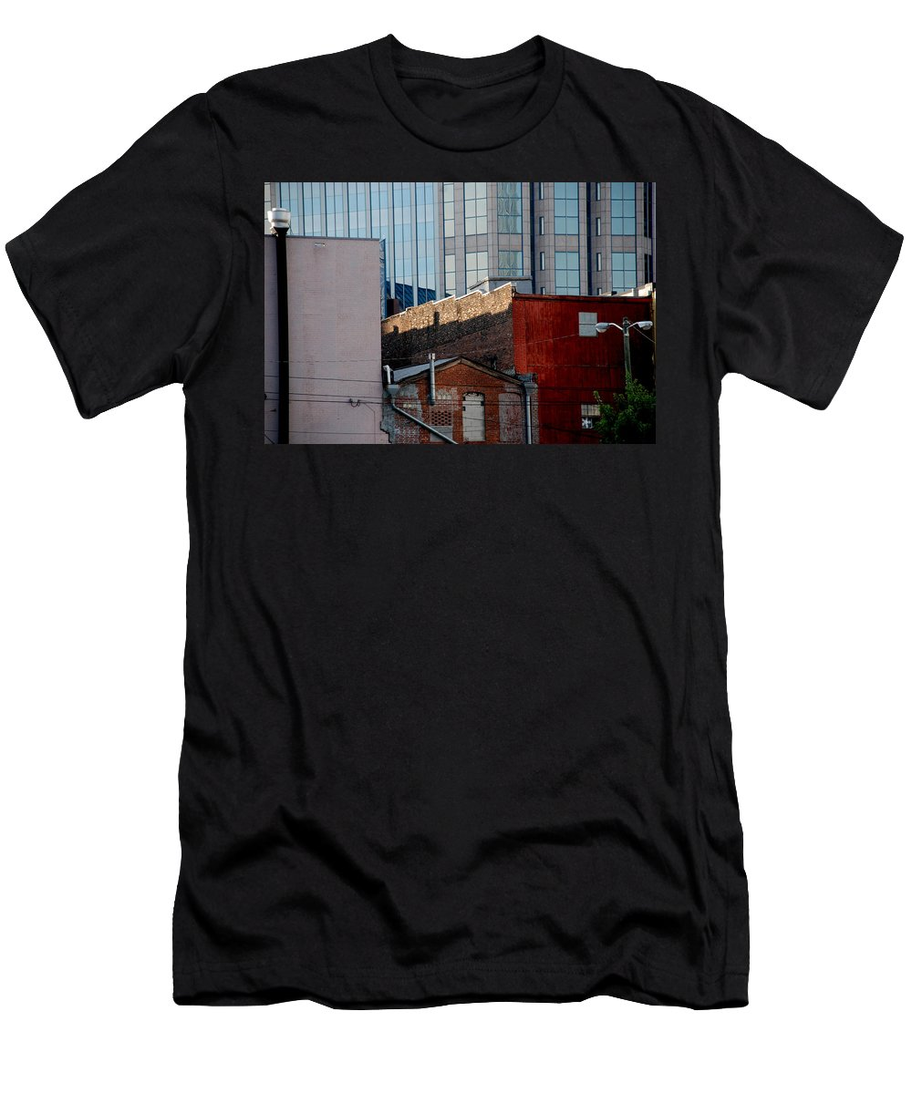 Nashville Men's T-Shirt (Athletic Fit) featuring the photograph Old And New Close Together by Susanne Van Hulst