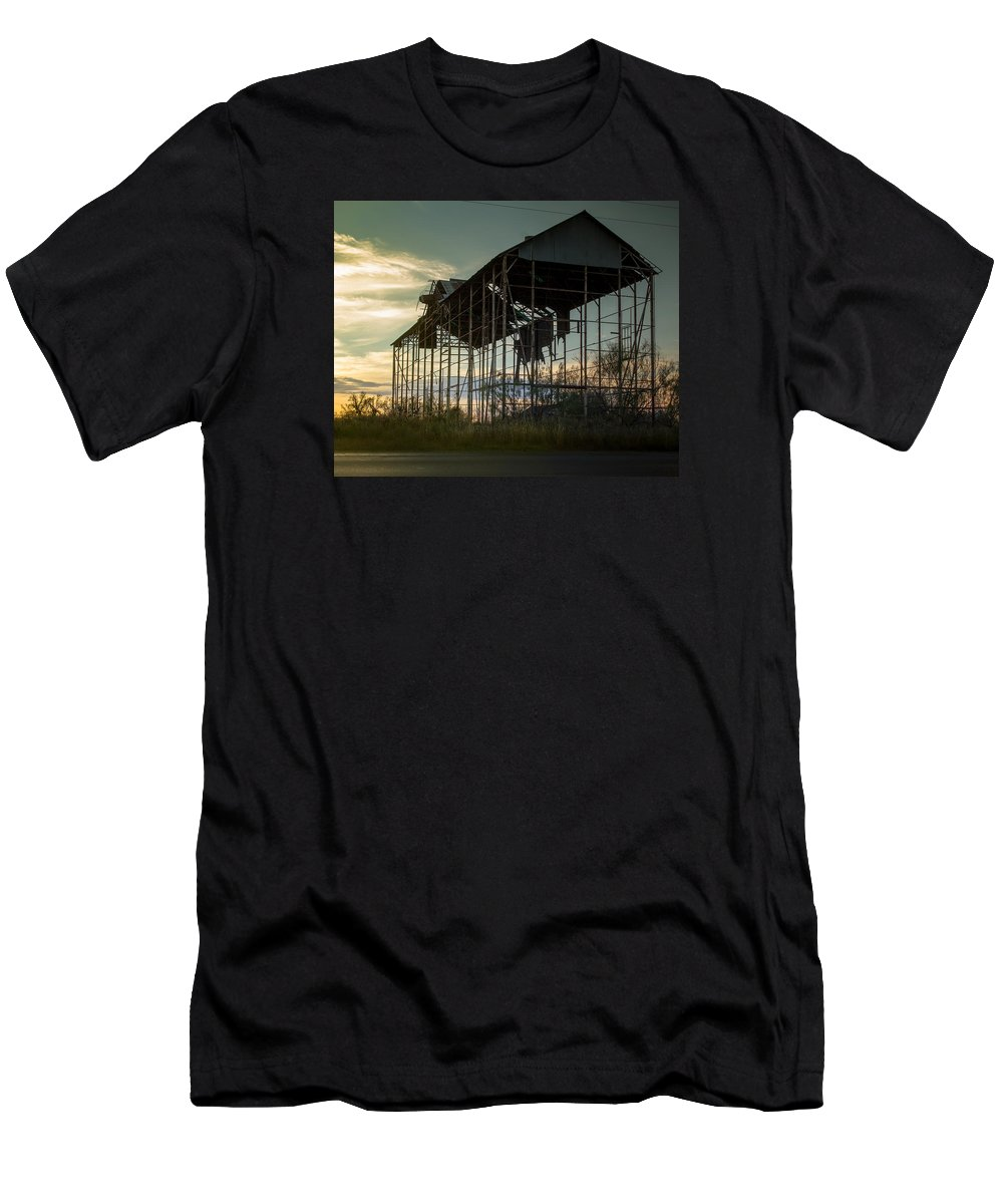 Old Men's T-Shirt (Athletic Fit) featuring the photograph Old Barn by Paul Gibson
