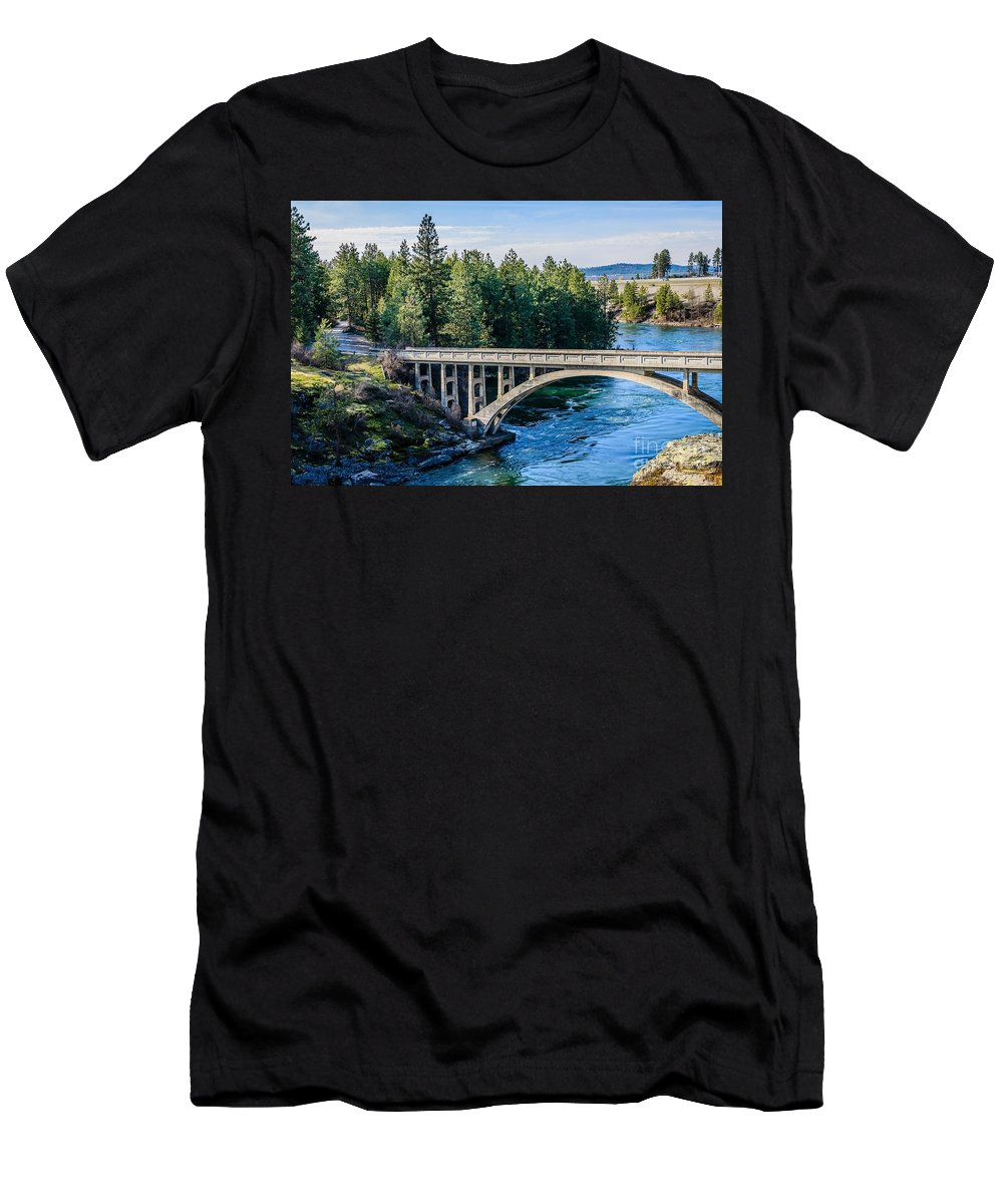 Bridge Men's T-Shirt (Athletic Fit) featuring the photograph Old Bridge by Sam Judy
