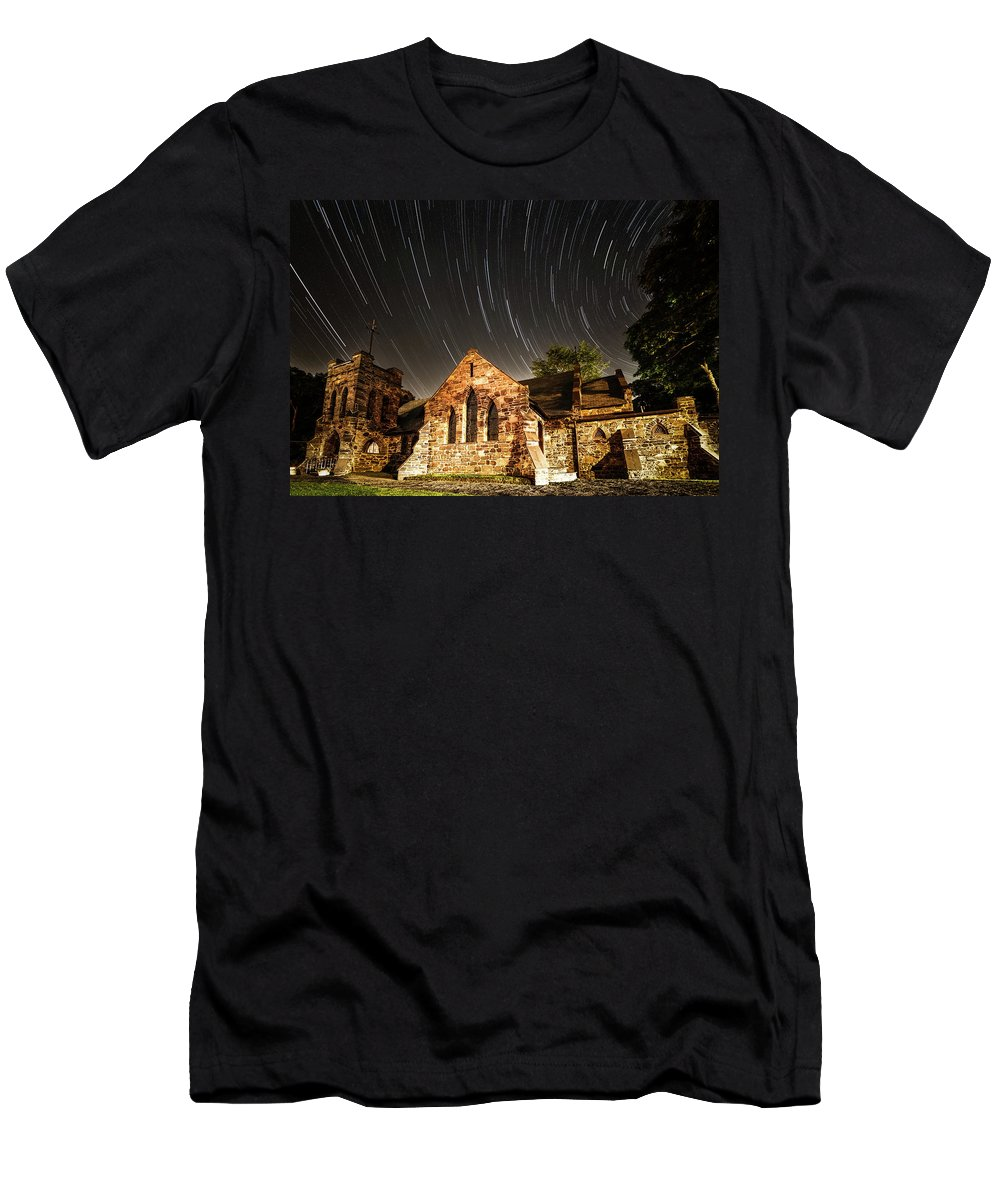 Amaizing Men's T-Shirt (Athletic Fit) featuring the photograph Old Church by Edgars Erglis