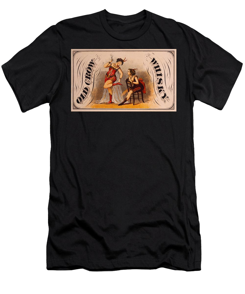 Old Men's T-Shirt (Athletic Fit) featuring the digital art Old Crow Whiskey by Bill Cannon