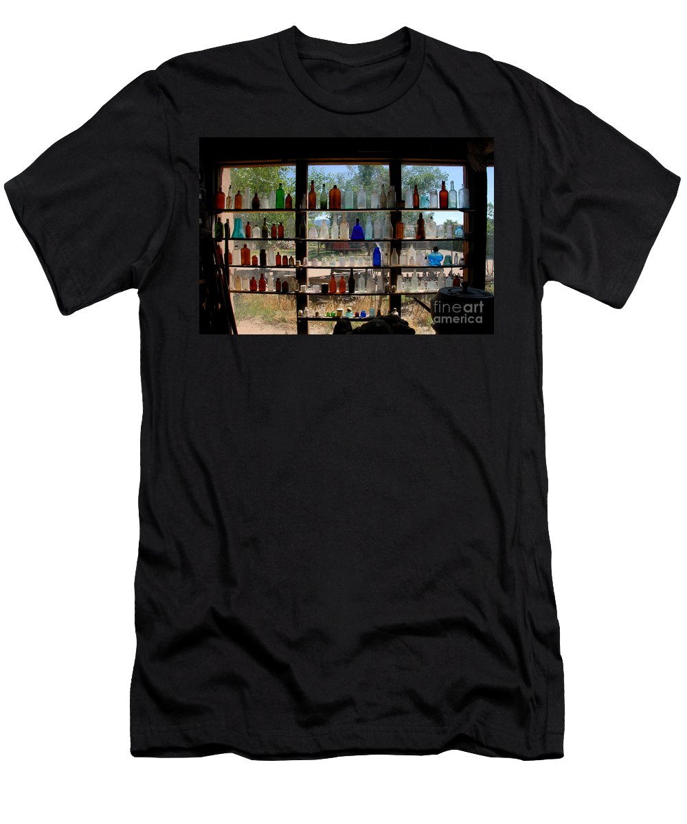 Glass Men's T-Shirt (Athletic Fit) featuring the photograph Old Glass by David Lee Thompson