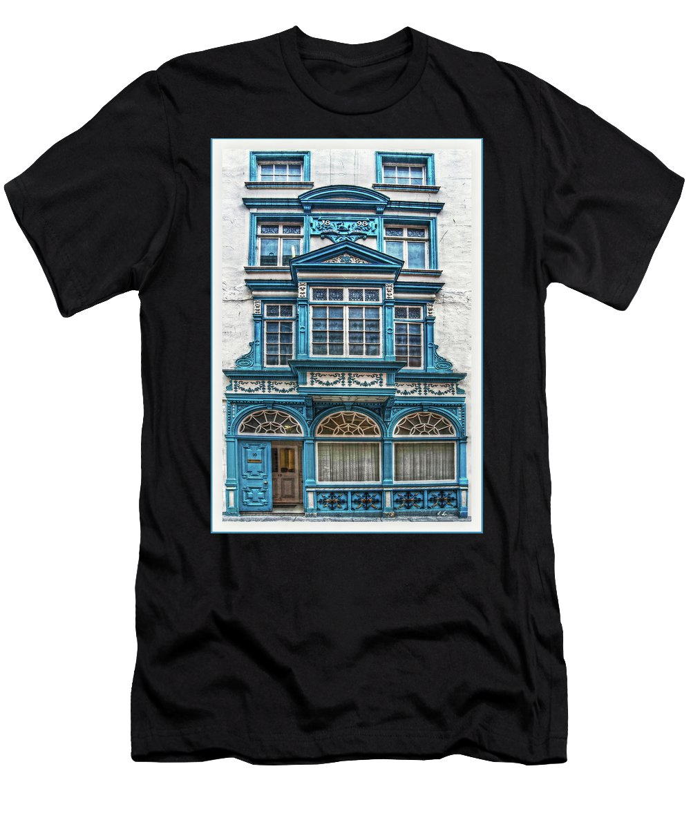 Dublin Men's T-Shirt (Athletic Fit) featuring the digital art Old Irish Architecture by Hanny Heim