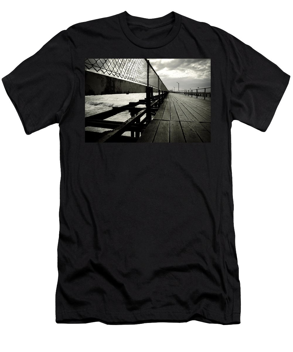 Old Men's T-Shirt (Athletic Fit) featuring the photograph Old Jetty by Kelly Jade King
