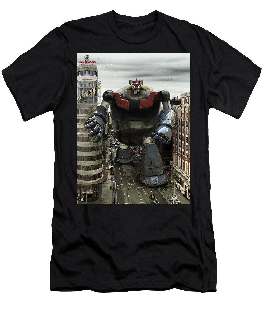 Sci-fi Men's T-Shirt (Athletic Fit) featuring the digital art Old Maziger Z by Andrea Gatti