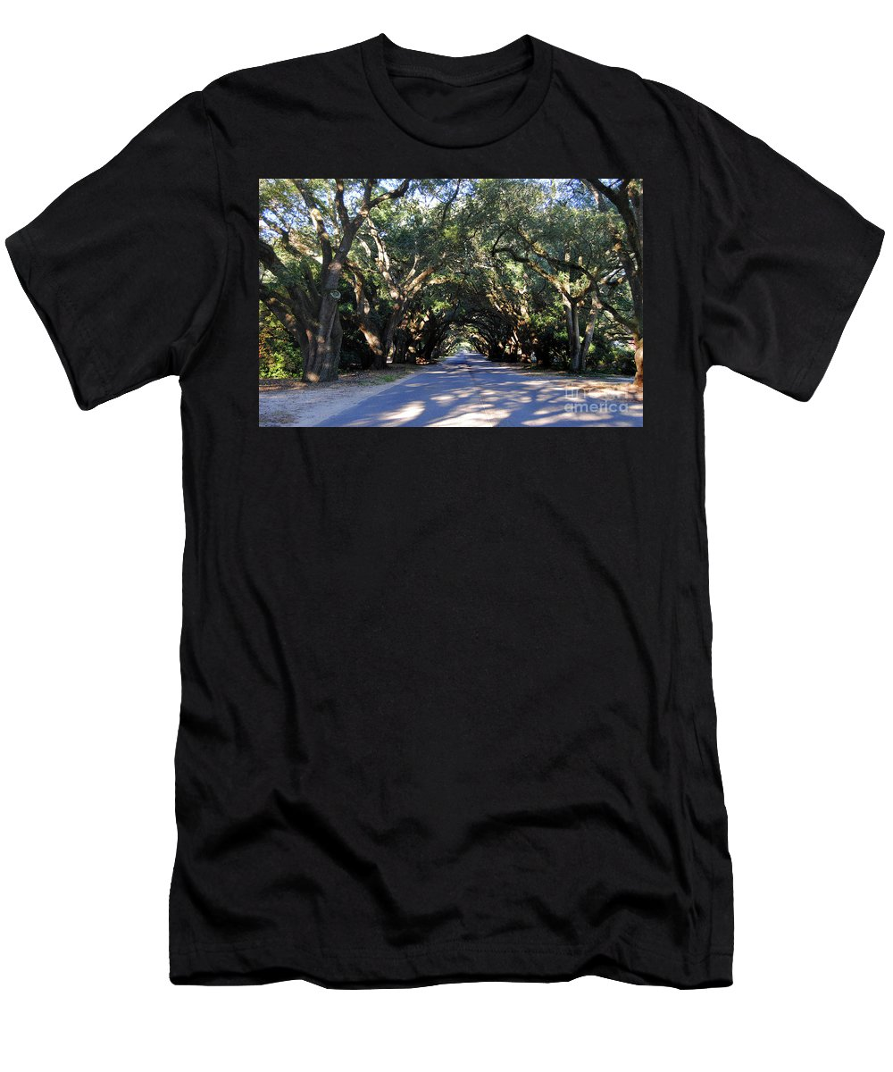 Scenic Tours Men's T-Shirt (Athletic Fit) featuring the photograph Old Oak Tunnel by Skip Willits