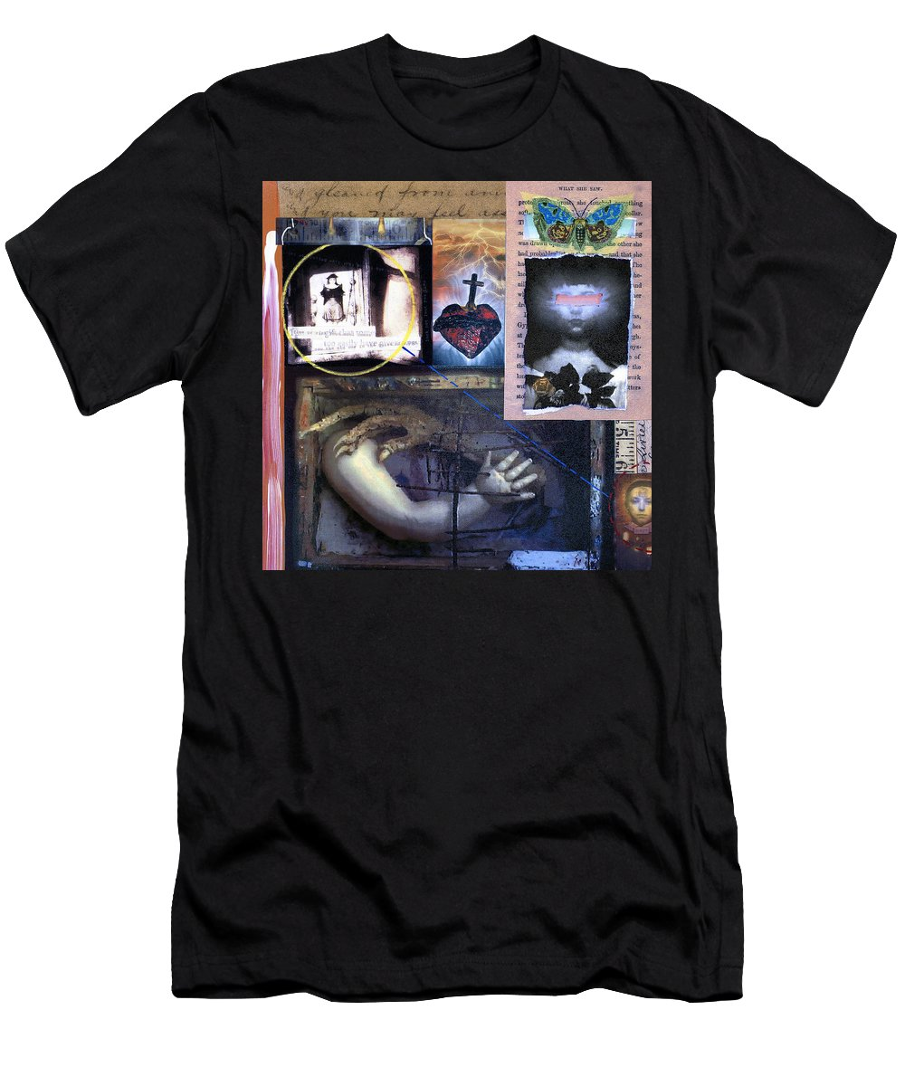 Collage Men's T-Shirt (Athletic Fit) featuring the painting Old One by Dominic Piperata