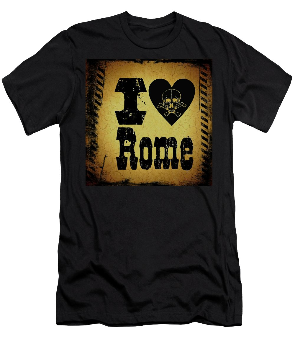 Rome Men's T-Shirt (Athletic Fit) featuring the digital art Old Rome by Randolph Ping