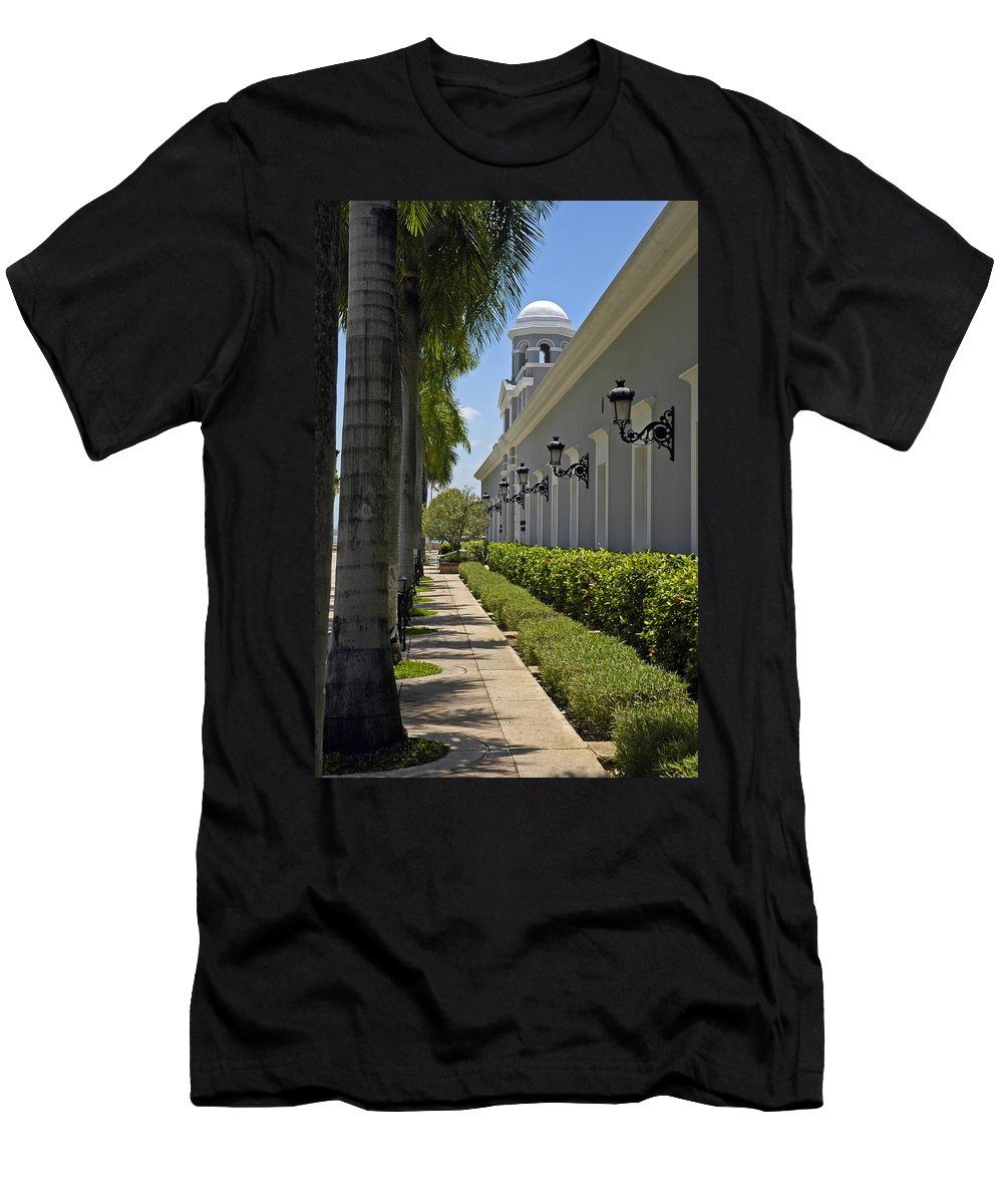 Travel Men's T-Shirt (Athletic Fit) featuring the photograph Old San Juan Puerto Rico by Tito Santiago