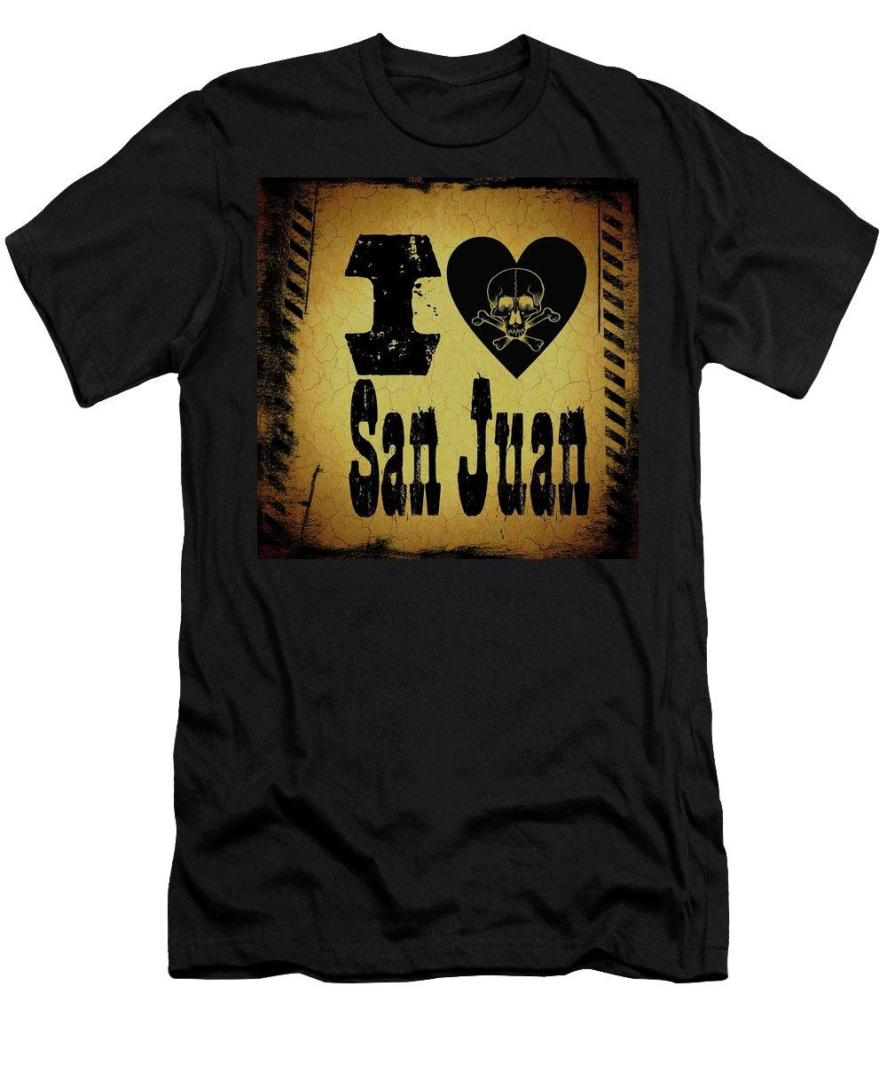 San Juan Men's T-Shirt (Athletic Fit) featuring the digital art Old San Juan by Randolph Ping