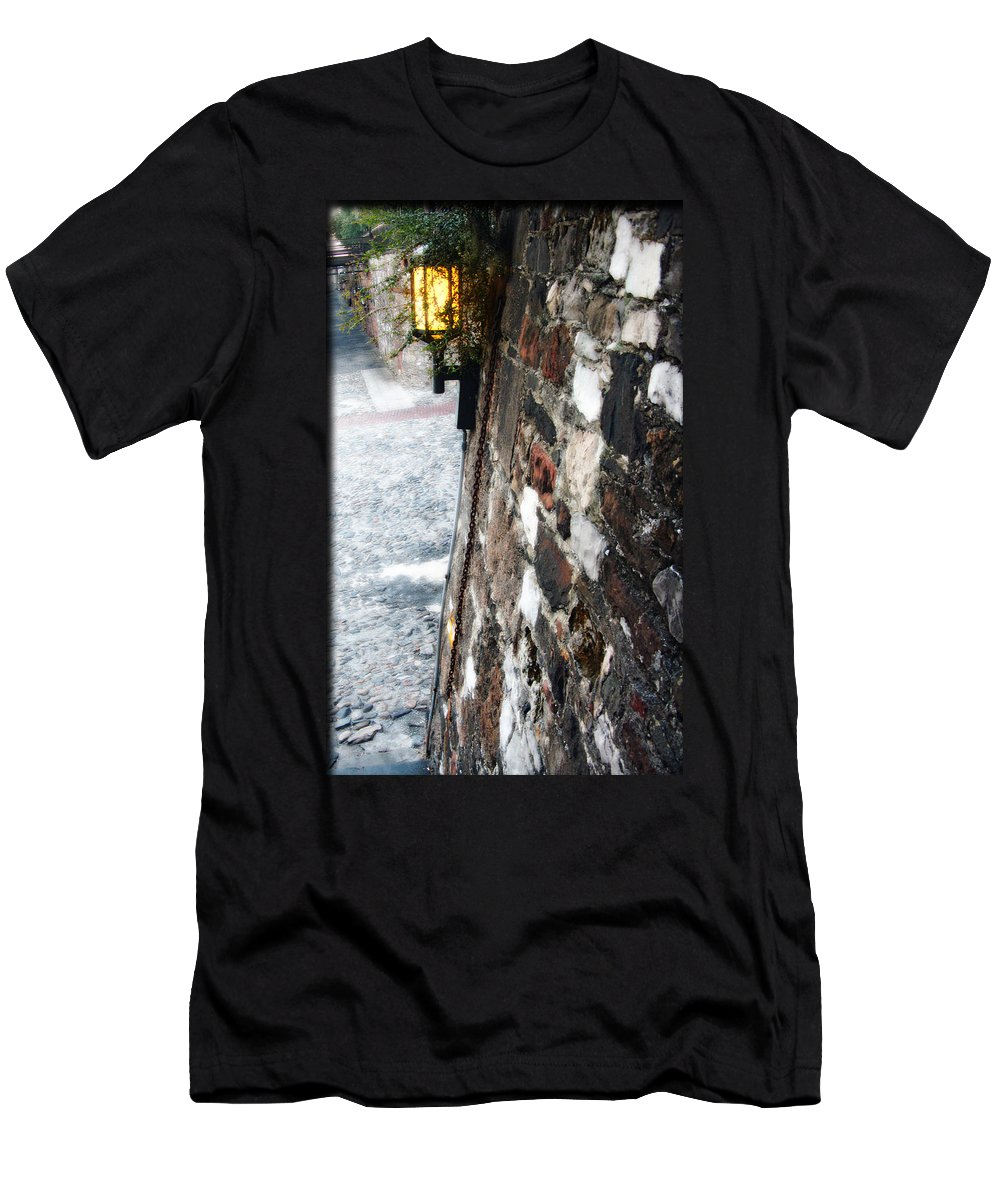 Georgia Men's T-Shirt (Athletic Fit) featuring the photograph Old Savannah Georgia by Brittany Horton