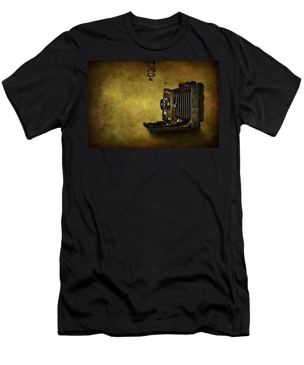 Camera Men's T-Shirt (Athletic Fit) featuring the photograph Old School by Evelina Kremsdorf