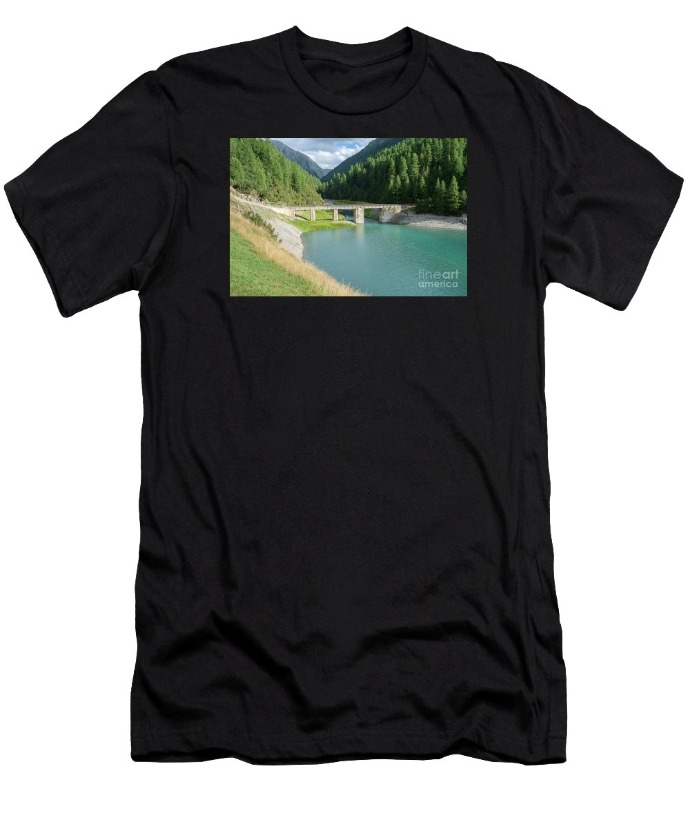 Italy Men's T-Shirt (Athletic Fit) featuring the photograph Old Stone Bridge by Gady Cojocaru
