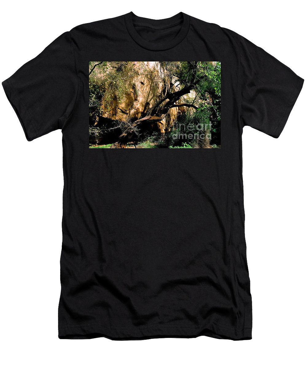 Trees Men's T-Shirt (Athletic Fit) featuring the photograph Old Tree by Kathy McClure