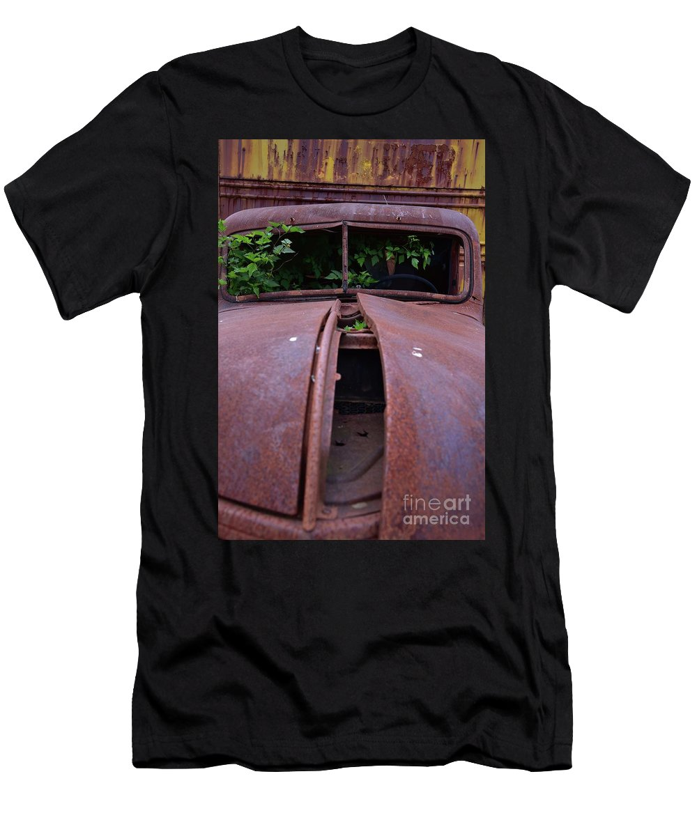 Truck Men's T-Shirt (Athletic Fit) featuring the photograph Old Truck New Vines by Bruce Chevillat