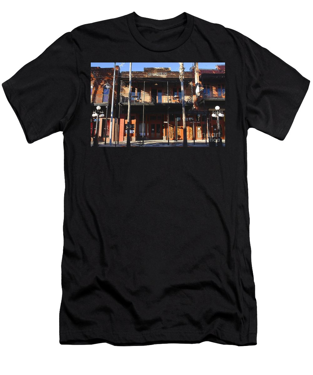 Ybor City Florida Men's T-Shirt (Athletic Fit) featuring the photograph Old Ybor by David Lee Thompson