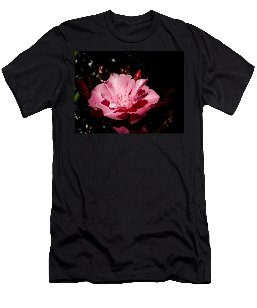 Plant Men's T-Shirt (Athletic Fit) featuring the photograph Oleander Bloom by Valerie Ornstein