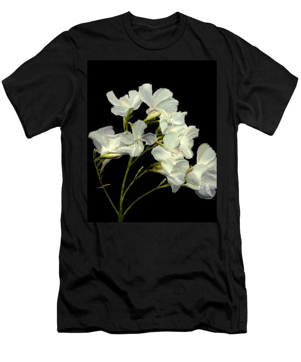 Flowers Men's T-Shirt (Athletic Fit) featuring the photograph Oleander by Kurt Van Wagner