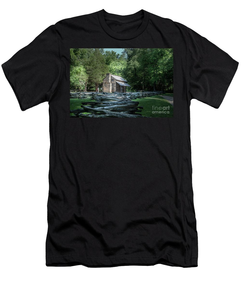 2016 Men's T-Shirt (Athletic Fit) featuring the photograph Oliver Cabin by Larry Braun