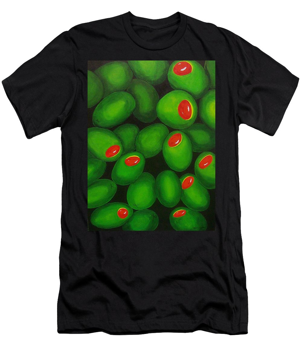 Olive Men's T-Shirt (Athletic Fit) featuring the painting Olives by Micah Guenther
