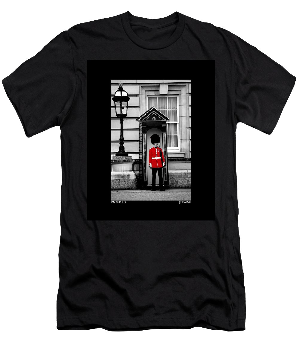 London Men's T-Shirt (Athletic Fit) featuring the photograph On Guard by J Todd